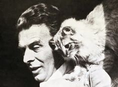 """Aldous Huxley with """"Limbo""""  """"No man ever dared to manifest his boredom so insolently as does a Siamese tomcat when he yawns in the face of his amorously importunate wife."""" - Aldous Huxley"""