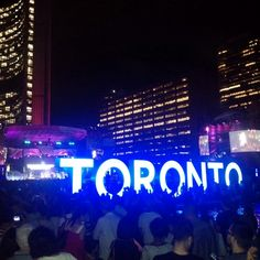 Pan Am Games fireworks in Nathan Phillip Square, July 24, Toronto, ON
