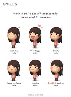 Hj story - Sometimes when a smile isn't simple just a smile… Over the years, I've slowly learned to recognize the subtle differences ) Cute Couple Comics, Cute Couple Cartoon, Comics Love, Cute Comics, Cute Cartoon, Chibi Couple, Hj Story, Cute Love Stories, Love Story