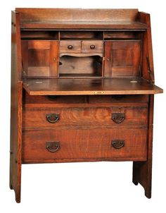 Gustav Stickley drop front desk.