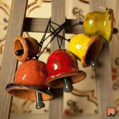 Dzwoneczki - gliniane ozdoby świąteczne (proj. Dekory Nati)