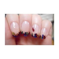 Super Awesome Nerdy NAILS! found on Polyvore