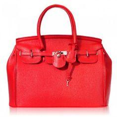 Hot Elegant Vintage Women Lady Celebrity PU Leather Red Tote Bag