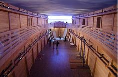 Dordrecht, Netherlands, carpenter and construction firm owner Johan Huibers last year completed a 3,000 ton replica of Noah's Ark, built of Swedish pine reinforced with steel, at a cost of 1.3M.