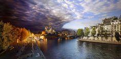 Day to Night, Pont de la Tournelle Paris - Day to Night, Pont de la Tournelle Paris. Click for Loupe View   Stephen Wilkes
