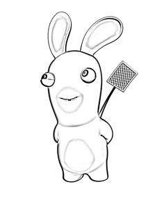 Printable coloring pages - Raving Rabbids (Video Games)