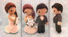 crochet bride and groom free pattern - Google zoeken