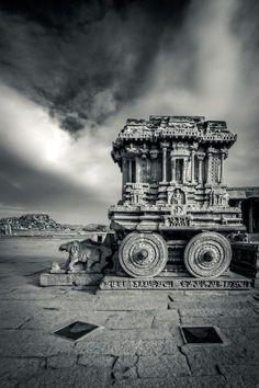 The Stone Chariot, Vittala Temple campus Shrine, Hampi, Karnataka, India Copyright: Vijay Nanda Indian Temple Architecture, India Architecture, Architecture Design, Ancient Architecture, Gothic Architecture, Hampi India, Karnataka, Rajasthan India, Temple India