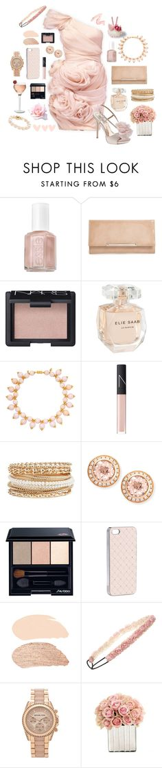 """""""Untitled #428"""" by maru-massimino ❤ liked on Polyvore featuring Essie, Jimmy Choo, NARS Cosmetics, Elie Saab, Rebecca Koven, Badgley Mischka, Charlotte Russe, Frederic Sage, Shiseido and Accessorize"""