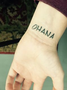 "First tattoo. ""Ohana means family and family means nobody gets left behind or forgotten."" Family doesn't always have to be blood either."