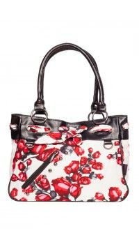 Black and White Red Rose Purse