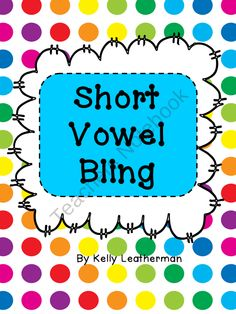 Short Vowel Bling necklaces from All That Glitters in 1st on TeachersNotebook.com (24 pages)
