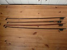 Four Interesting Old Violin Bows Various sizes
