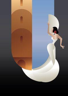 Art Deco styled Spain Flamenco dancer by JeraRS Art Deco Posters, Vintage Posters, Vintage Art, Poster Prints, Art Prints, Art Deco Illustration, Illustrations, Motifs Art Nouveau, Flamenco Dancers