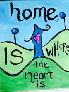 Home is Where the Heart Is - original artwork available as a print from Patrick Guindon Art. Where The Heart Is, Christmas Shopping, House Warming, Original Artwork, Design Art, Nursery, The Originals, Prints, Faces