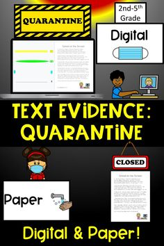 Do you need a resource to really dive into the 2020 Pandemic? This Digital/Paper Text Evidence Resource has 5 poems, 3 nonfiction passages and 3 fiction passages that all revolve around the 2020 Quarantine or revolve around our everyday heroes, like nurses & doctors! For Google Slides! The poems and fiction stories share the common theme of a longing to returning to the way things used to be! Writing Resources, Teacher Resources, School Resources, Teaching Ideas, Teacher Tools, Teacher Stuff, Text Evidence, 3rd Grade Reading, Back To School Activities