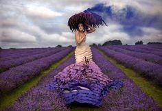purple flowers, purple gown - © K.mitchell
