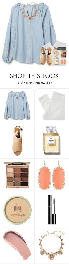 """Kill Em With Kindness"" by theafergusma ❤ liked on Polyvore featuring Gap, Nobody Denim, Steve Madden, Stila, Pixi, Chanel, Burberry and Oscar de la Renta"