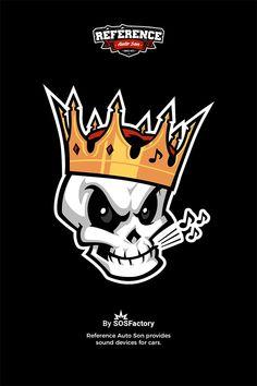 Skull mascot design for reference love skulls get your skulls. Skull Logo, Skull Art, Logo Esport, Graffiti Characters, Graffiti Drawing, Cartoon Logo, Mascot Design, Game Logo, Logo Sticker
