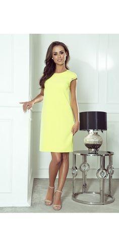 Sukienki wieczorowe - Kolekcja wiosenna    Sukienka z paskiem Short Sleeve Dresses, Dresses With Sleeves, Dresses For Work, Summer Dresses, Modern, Playstation, Sony, Fashion, Moda
