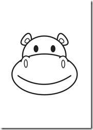 Mascara De Hipopotamo Gratis Para Imprimir Rostros De Dibujos