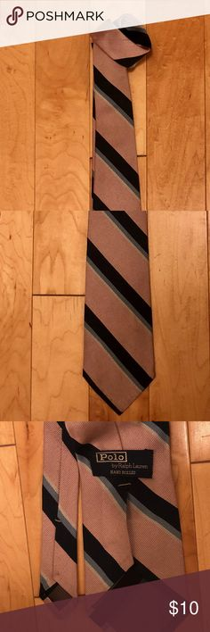 """Vintage Ralph Lauren 100% Handmade Silk Neck Tie >35 year old, Polo, Pink, Baby & Navy Blue and White, as in photo, stitching requires tightening by knowledgeable person.   This item is my personal property and not a consignment.  Selling it because I am currently unemployed . Given the choices, I would not part with it. If it is your sizes, seriously consider purchasing it. Note: I CAN GIVE YOU A DISCOUNT ON THIS ITEM BY ITSELF IF YOU WILL CLICK """"Add to Bundle"""". YOU CAN ALSO ADD OTHER ITEMS…"""