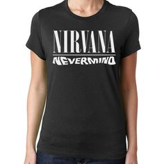 Nirvana Nevermind Womens T Shirt Junior Baby Doll Petite Rock Grunge... ($11) ❤ liked on Polyvore featuring tops, t-shirts, black, women's clothing, petite t shirts, babydoll tops, black baby doll top, black top and baby doll tee