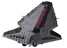 The keel and ventral hangar bay of a Venator-class Star Destroyer during the Clone Wars