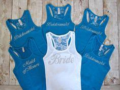 6 Bridesmaid Tank Top. Bridesmaid Shirts. Bachelorette Party Shirts. Bride Shirt. Wedding Gift. Maid of Honor Gift. Bridesmaid Gifts