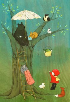 Story Time in the Forest, Large Print