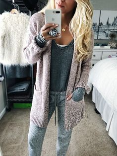coziest layers  is loungewear acceptable in public? Asking for a friend...  // go to thermal or the season is on MAJOR markdown today! cardigan (i have 3 colors) is 50% off   I'm linking more loungewear favorites  @liketoknow.it http://liketk.it/2tDdg #liketkit PLUS - top Cyber sales on stylecusp.com too (link in bio)