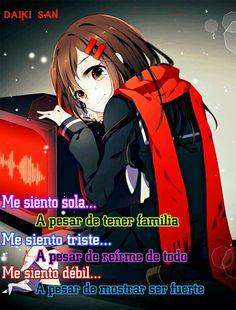 Daiki San Frases Anime Me siento sola...