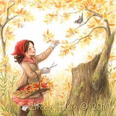 A traipse through the woods on a crisp Autumn day . . . breathing in the scent of dew on the turning leaves . . . collecting bright berries and