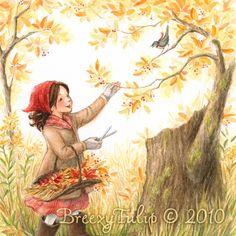 Gathering Autumn Joys Art Print by BreezyTulip on Etsy, $22.00