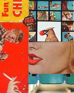 """David Wallace + Rebecca Trawick ~ """"Fun with chemistry"""" (2007) Collaborative collage"""