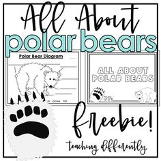 All About Polar Bears: I hope that you enjoy this fun polar bear freebie! Use these activities to supplement any non-fiction polar bear unit. **This freebie is included in my differentiated All About Polar Bears Non-Fiction Writing Activity**This freebie includes:-7-page All About Polar Bears book t...