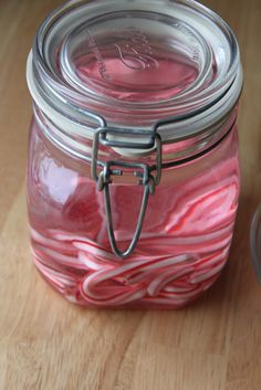 Candy Cane Infused Vodka- this may be a fun gift for the girls! OMG, where has this BEEN all my life?!?!