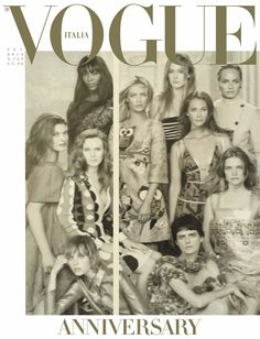 Vogue (Italy) September 2014 | Models: Linda Evangelista, Christy Turlington, Naomi Campbell, Amber Valletta, Stella Tennant et al