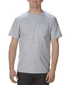 a0165bc3 Adult Tee with Pocket Wholesale Blanks, Raglan Tee, Long Sleeve Tees, Long  Sleeve