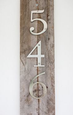 Modern Rustic House Numbers by MyRusticInspiration on Etsy, $24.95