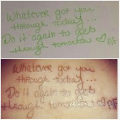 My sisters hand writing <3 rip #tattoo #memorialtattoo