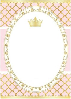 blank Baby Shower Princess, Baby Princess, Princess Birthday, Princess Party, Girl Birthday, Invitation Background, 1st Birthday Parties, Birthday Invitations, Pink And Gold
