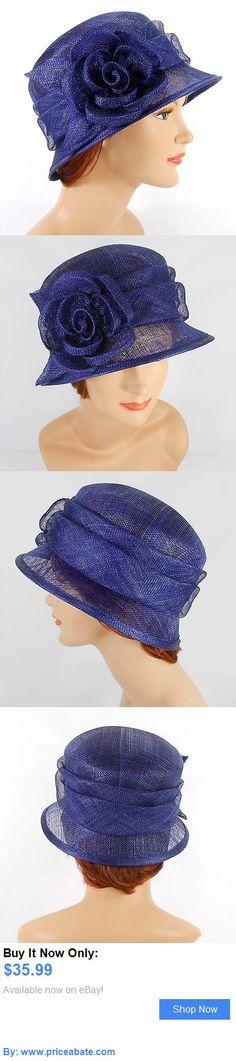 Women Formal Hats: New Woman Church Derby Wedding Sinamay Ascot Cloche Dress Hat 2931 Navy BUY IT NOW ONLY: $35.99 #priceabateWomenFormalHats OR #priceabate