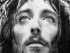Jesus Face Pencil Drawing Soft pencil shade jesus