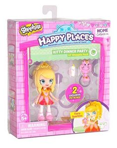 The Lil Shoppies love their happy places. The Lil Shoppies fit perfectly into the happy house so that they can share adventures and fun with their petkins friends! tiara sparkles comes with 2 exclusive petkin friends and a catalog.