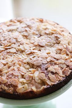 Pear and Almond Cake - An easy pear and almond cake recipe that is as gorgeous as it is delicious. We love this cake and make it often. Moist, light and tasty -- a perfect cake.   circleofeaters.com