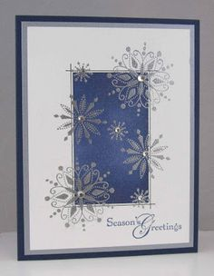 Love to Stamp & Scrap: November - the LAST Batch of Christmas Cards!!   Beautiful in blue,