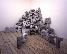 Fiona banner: Concrete Poetry  Le territoire des sens: novembre 2008