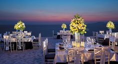 Beach wedding reception at Now Amber Puerto Vallarta! #Mexico #Destinationwedding #sunset