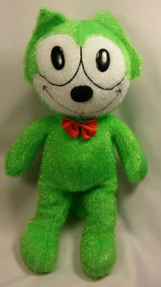 "Felix the Cat Green 19"" Plush Toy Works Stuffed Animal 